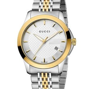 Gucci Swiss G-Timeless Two Tone watch